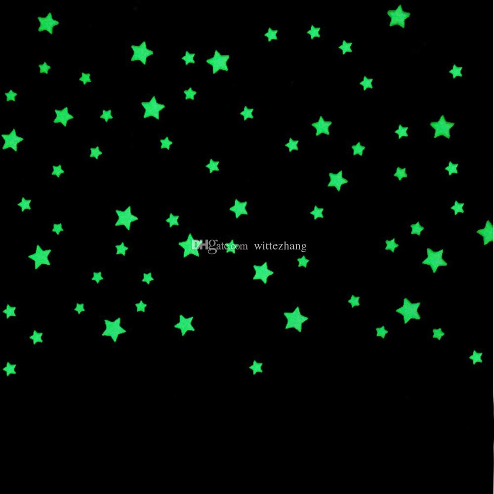 1000PC wall stickers for kids rooms Fluorescent Glow In The Dark Stars Wall Sticker DIY poster home decor DROP SHIP