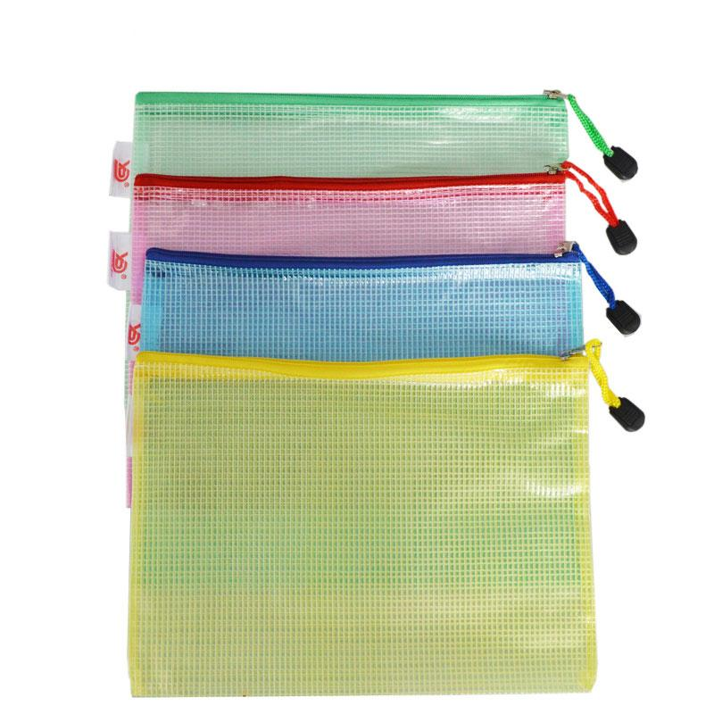 A4 zipper File Folder Durable Briefcase Document Bag Paper File Folders Stationery Store School Office Supplies