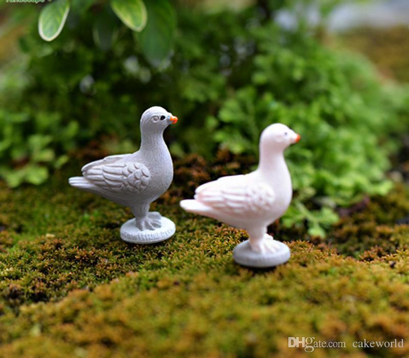 8 pz Pace Colomba animale ornamenti da giardino gnomes iarda figurine in miniatura mestiere della resina jardin terrario artificiale piante arredamento