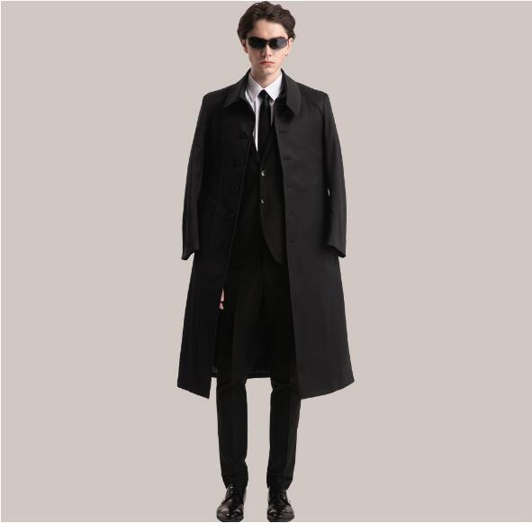 2017 Wholesale Ankle Length Coat Men Spring Autumn Jacket Coat ...