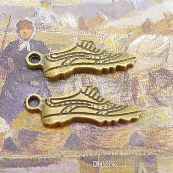 B0177 25 * 8mm chaussures, accessoires en alliage d'argent anciens, DIY80 / sac, 1,25 grammes