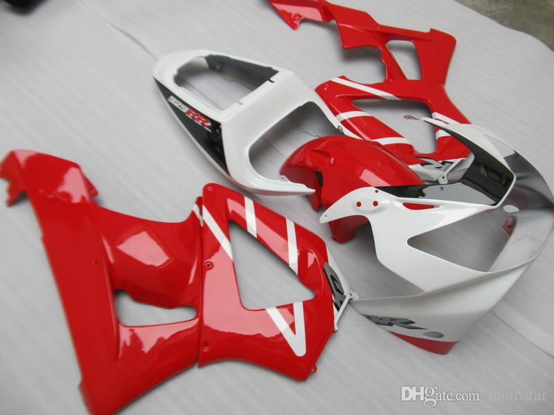Free Customize Injection fairing kit for Honda CBR900RR 00 01 red white fairings set CBR929RR 2000 2001 OT19