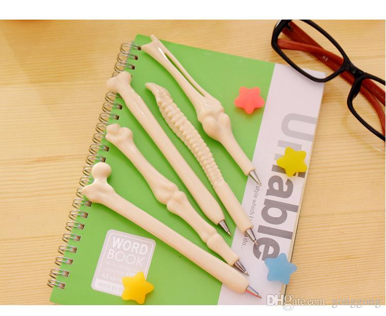 5PC / ossa molto creativi penne a sfera novità Penne penna osso bella Miglior regalo per amici o figli 1.707.101