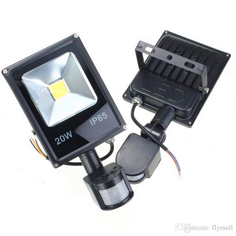 10W 20W 30W 50W PIR LED Floodlight Motion Sensor Lamp Outdoor Landscape LED Flood Light Lamp Waterproof IP65 85-265V Corridor Garden Light