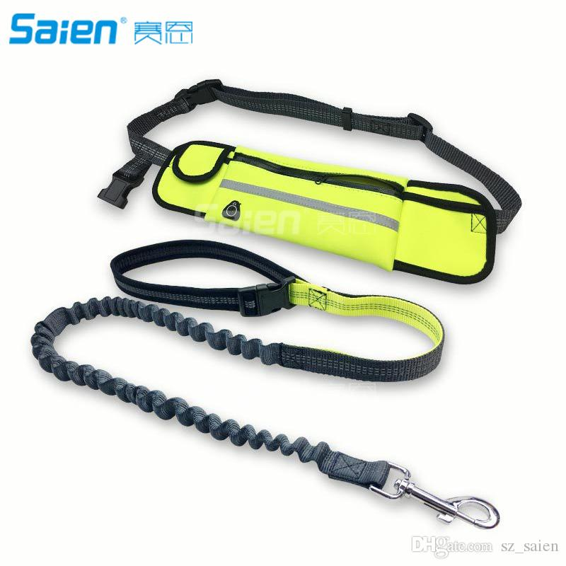Les mains de chien gratuit Leash avec Bungees rétractable Durable - Running Dog Leash Dog Walking Leash avec deux poignées de la circulation
