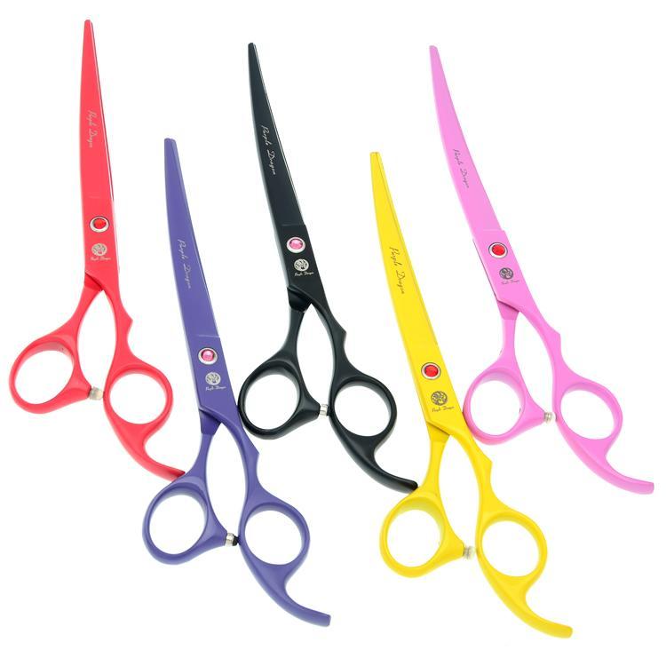 7.0 Inch Purple Dragon JP440C Forbici da taglio professionale in acciaio inox pet forbici per cane grooming cesoie strumenti di taglio dei capelli del cane, LZS0650