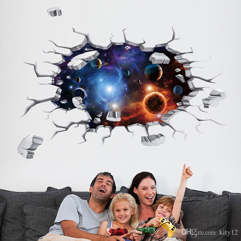 Heißer Verkauf neue 3D Wandaufkleber Bodenaufkleber universal Tapete für Heimtextilien Kind Wohnzimmer