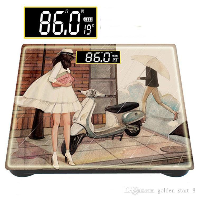 2016 Qualität 180KG * 10G Haushalt Menschlicher Körper Badezimmer Skala  Elektronisches Gesundheits Fett Wiegenmaschine Präzisions Karikatur Balance