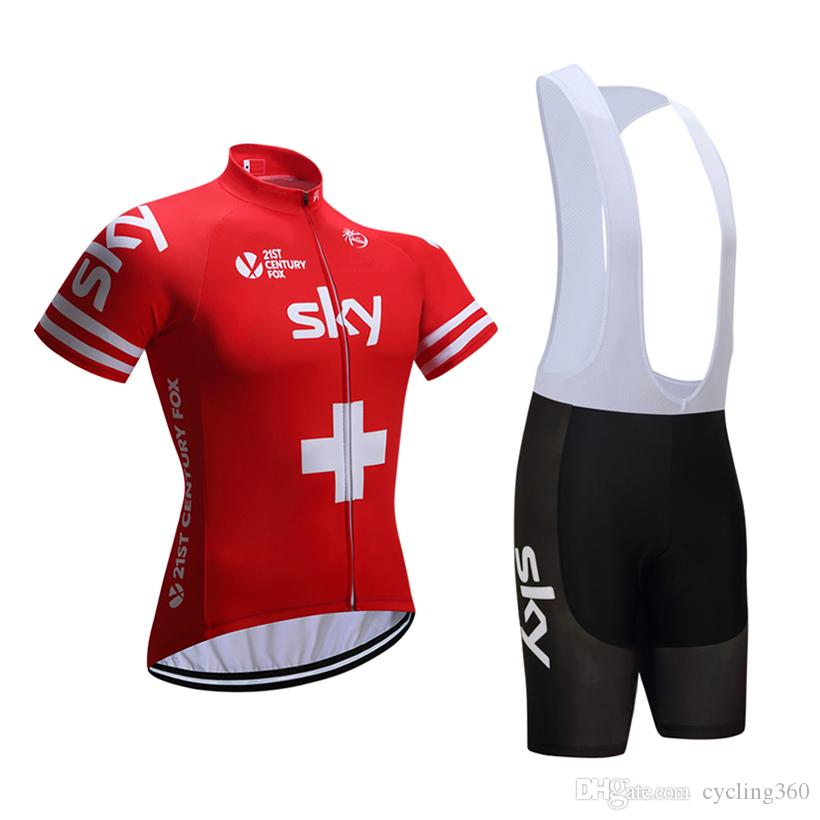 2017 Red Sky Cycling Jersey 3d Gel Pad Bike Shorts Ropa Ciclismo ...