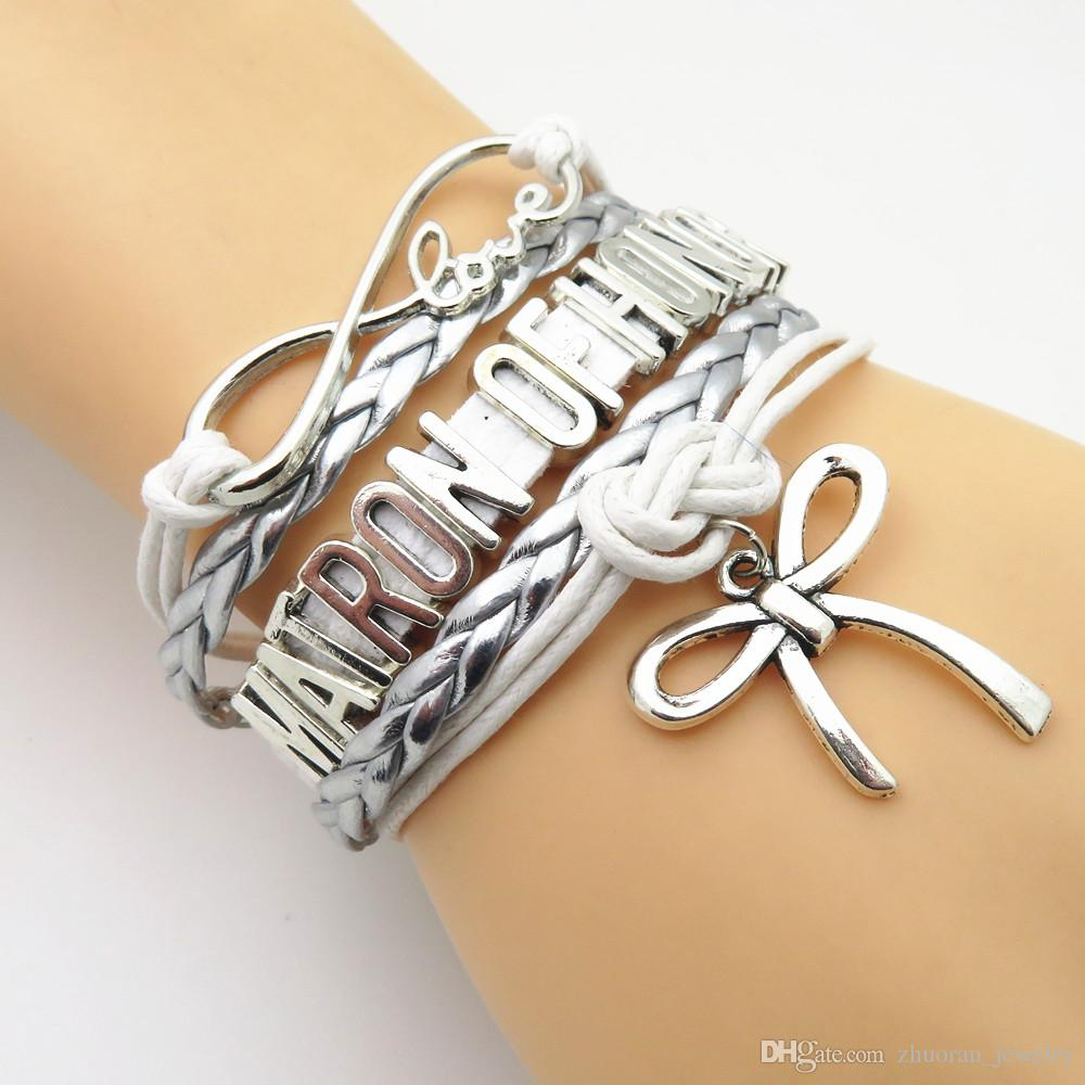 New Design Infinity Love Bridal Bracelet White Silver Wedding Party  Gifts Bride Jewelry Bangle Friendship Charm