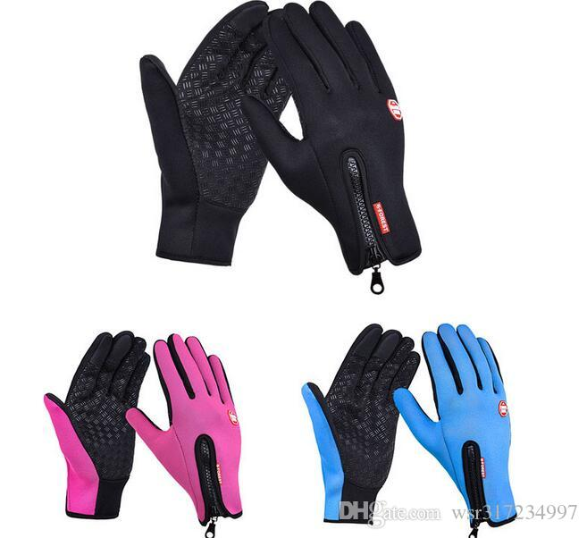 Mens Womens Cycling Skiing Sport Gloves Winter Thermal Windstopper Touch Screen