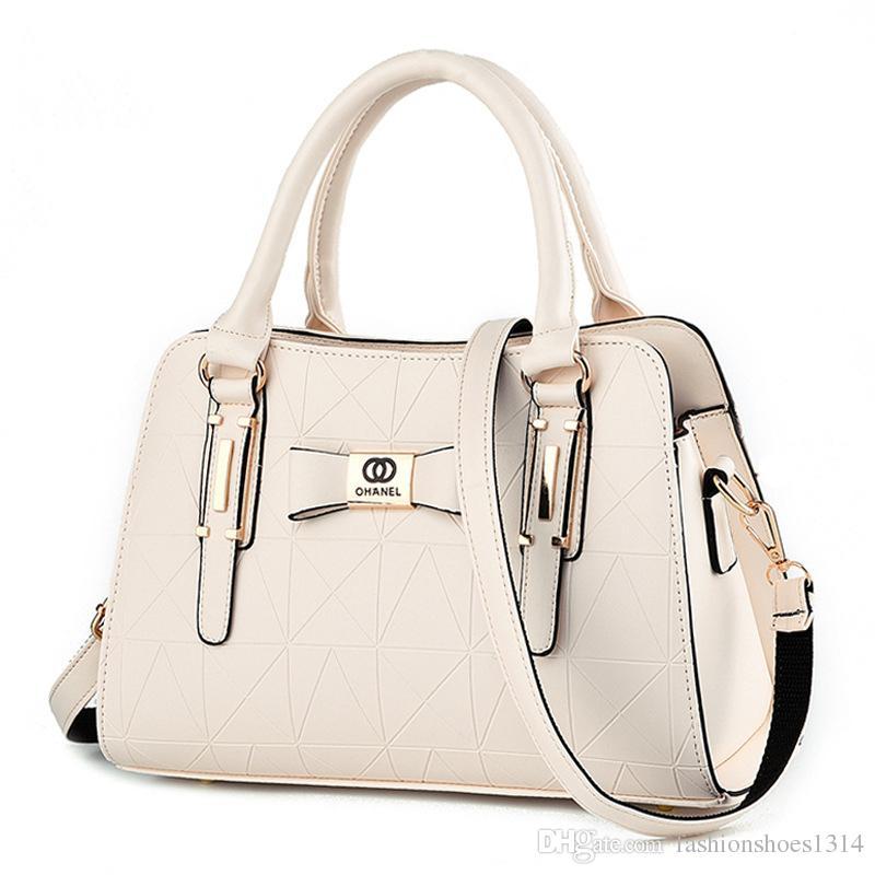 2017 New Italy Fashion Leather Handbags Women Bags Top Brand Designer Lady Shoulder Bag Handbag Business Travel Tote Bags Wholesale & Retail