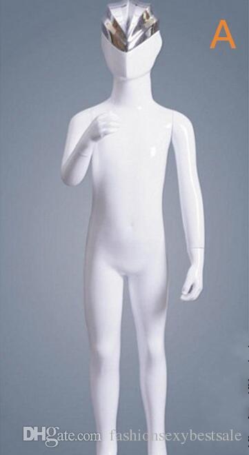 Modo all'ingrosso 1 pz Abstract Altman per bambini corpo bianco brillante testa del bambino abbigliamento modello display flessibile cosmetologia manichino B618