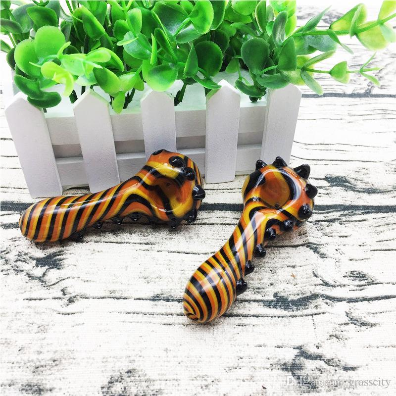 USA Most Popular Glass Pipes for Smoking Mini Hand Pipes Spoon Animal Shape Special Design Heady Glass Water Pipes