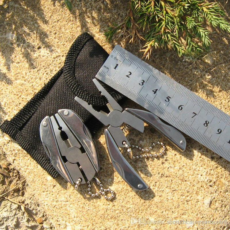 50pcs Portable Mini Multi Function Folding Pocket Tools Plier Knife Keychain Screwdriver