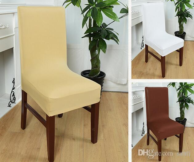 Groovy New Colors Dining Chair Covers Spandex Strech Elastic Chair Covers For Wedding Party Home Deco Cover On A Chair 40 60Cm Rental Chair Covers For Caraccident5 Cool Chair Designs And Ideas Caraccident5Info