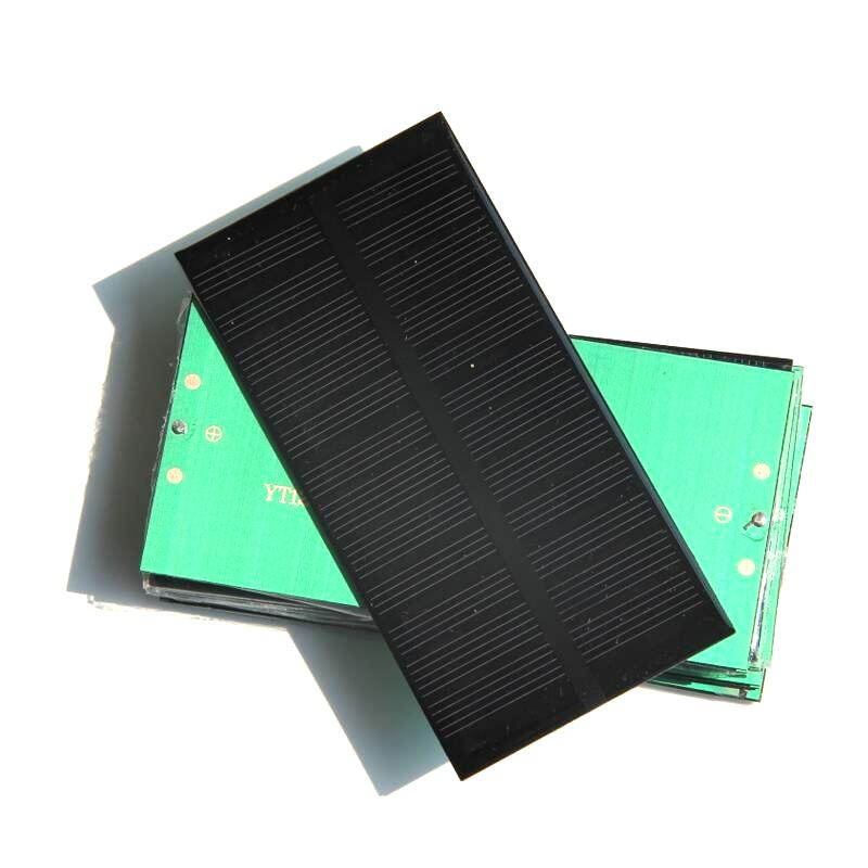 Wholesale 6V 1W Monocrystalline Solar Cell DIY Solar Panel System Charger 125*63*3MM Epoxy 50PCS/Lot Free shipping