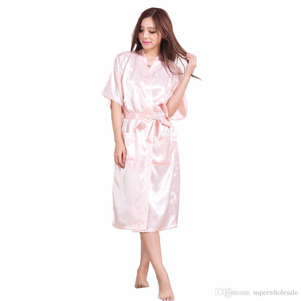 Online Cheap Women\'S Satin Robe Long Dressing Gown Women\'S Satin ...