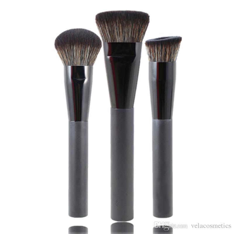 Премиум 3 шт. лицо макияж кисти набор многоцелевой пудра румяна Bronzer выделить контур полировки смешивания красоты инструменты Kit