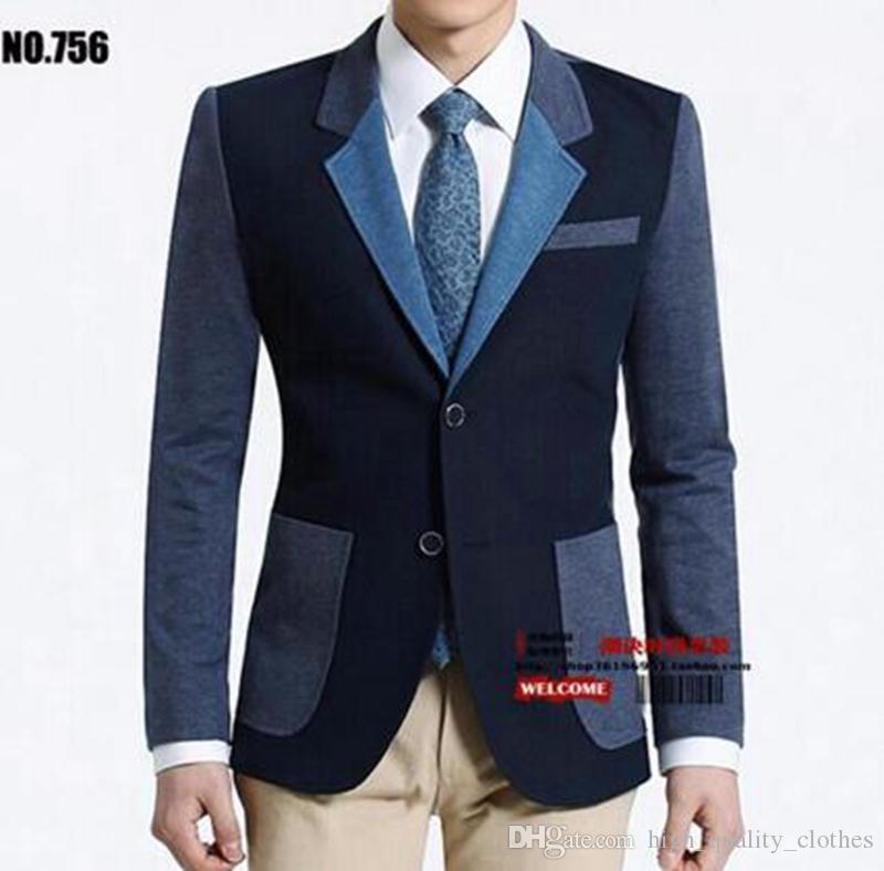 새로운 봄, 가을, 한 판은 남성 패션 컬러 매칭 자켓을 개발합니다. 756.S - 3 xl