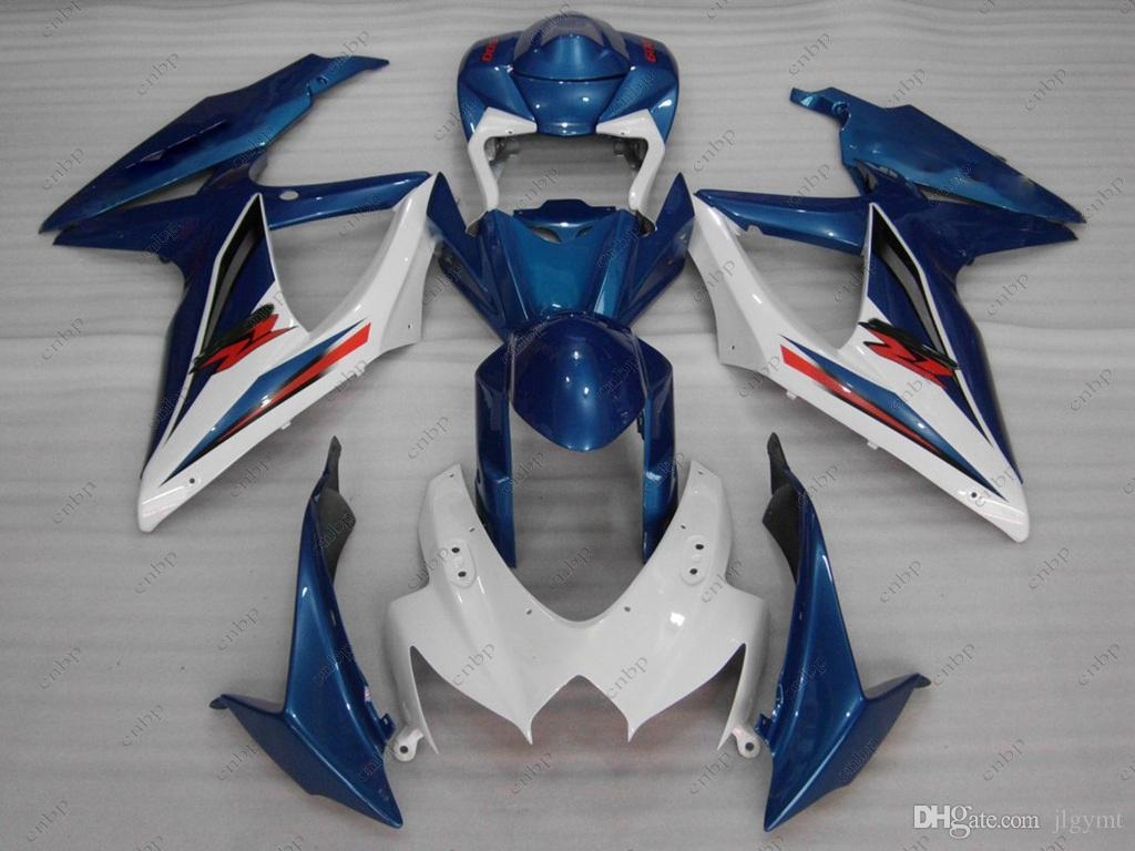 Full Body Kits GSX-R750 2010 ABS Fairing GSXR600 09 10 Blue White Bodywork GSXR 600 2008 2008 - 2010 K8