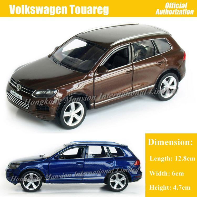 1:36 مقياس دييكاست سبائك معدنية فاخرة SUV موديل السيارة ForVolkswagen طوارق مجموعة نموذج سحب ألعاب السيارات