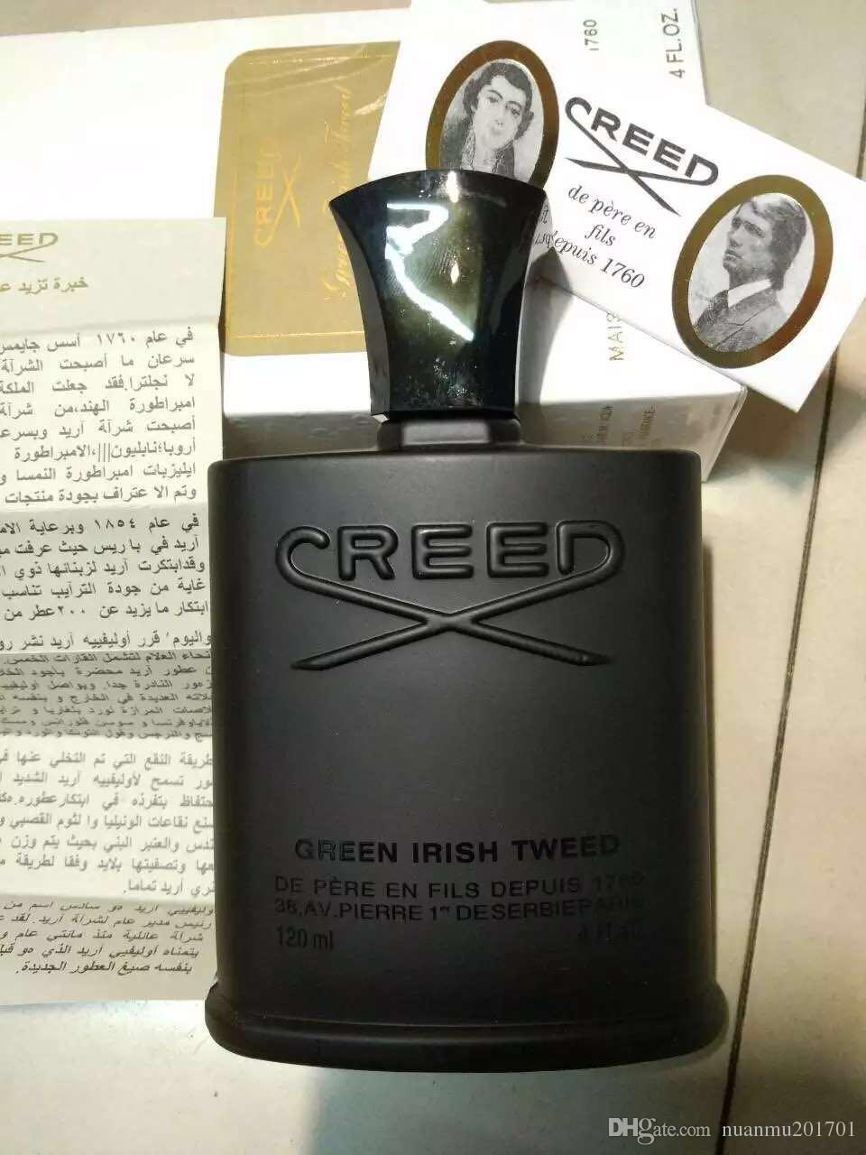 جديد وصول الأخضر الأيرلندية التويد للرجال 120 مل مع فترة طويلة الأمد رائحة طيبة 1 إلى 1 جودة عالية الصلبة العطور التسوق مجانا