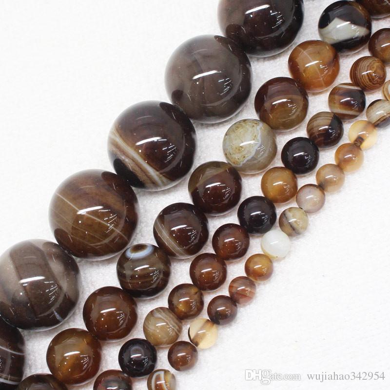 10 rodé perles dans Coffee Marron 12 MM