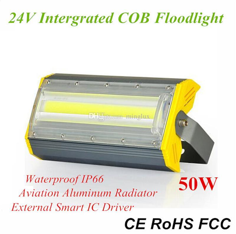 50W Su geçirmez Flip COB LED Sel Işığı AC110V / 220 V / 24 V Yüksek Verimlilik 100lm / W Açık Peyzaj Aydınlatma için Lineer LED Sel Lambaları