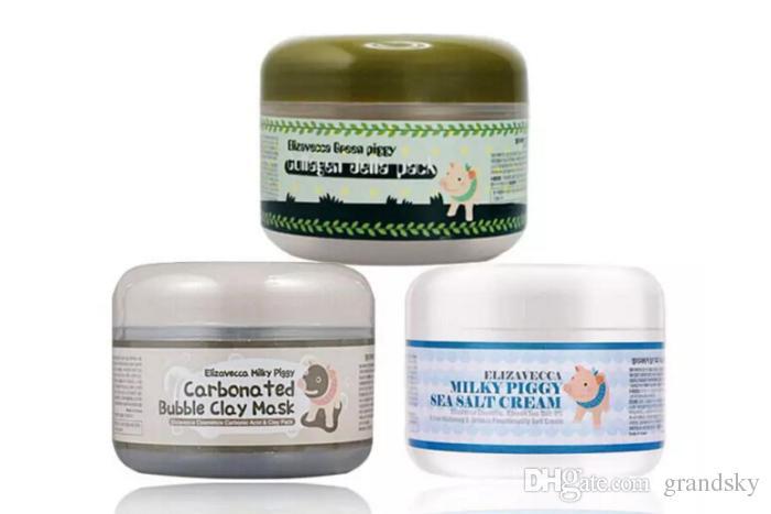 Makeup milky piggy carbonated oxygen bubble clay Mask 100g remove blackhead face care facial sleeping mask Elizavecca clay mask