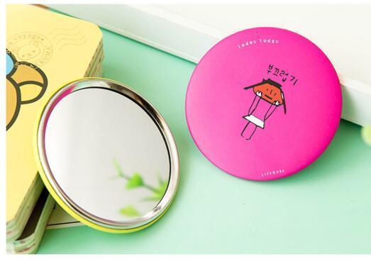 color al azar mini ladies espejos compactos pintados a mano pequeos espejos porttiles patrones surtidos espejos