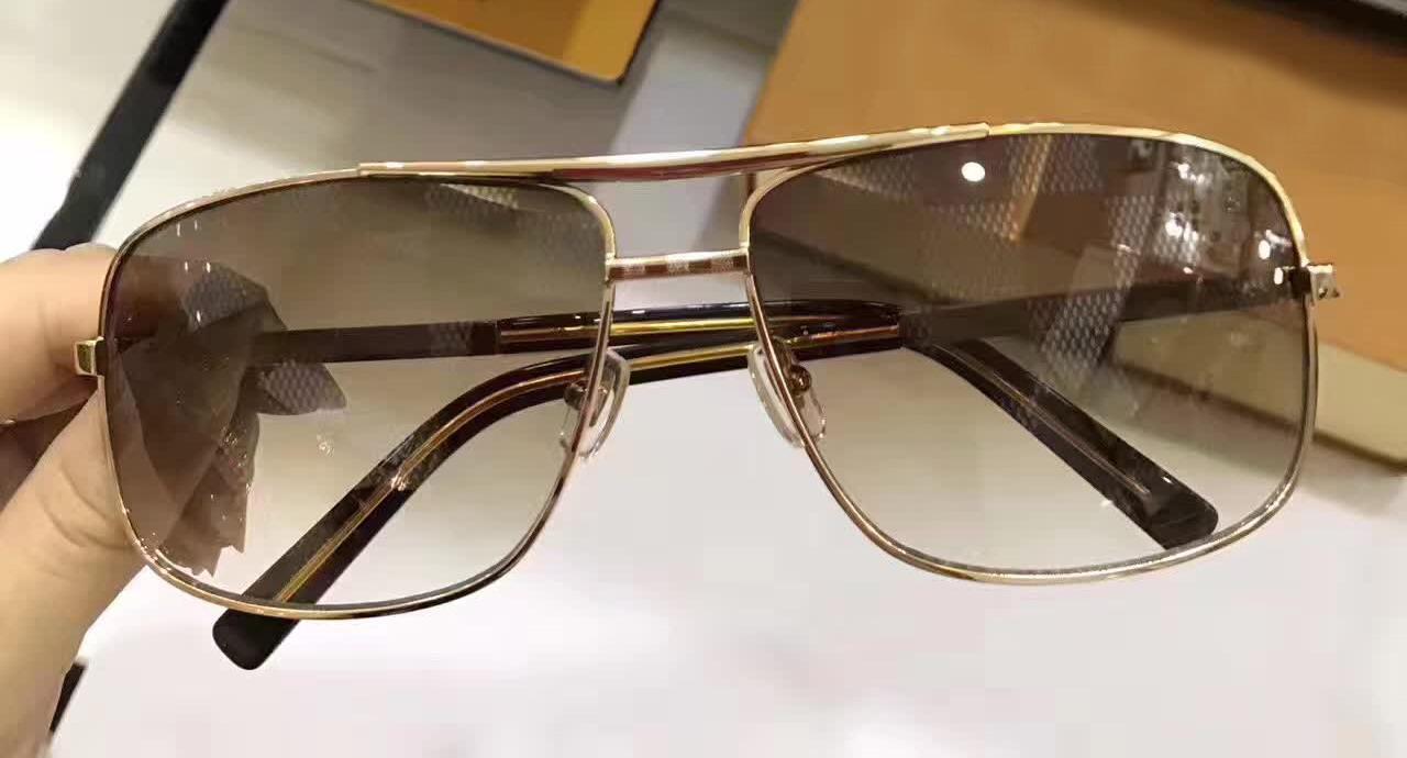 Moda Hombres Oro Actitud Caja Cuadrado Marrón Marco Vintage Marco Gafas de sol con gafas de sol Nuevo Clásico Vintage Tckhm