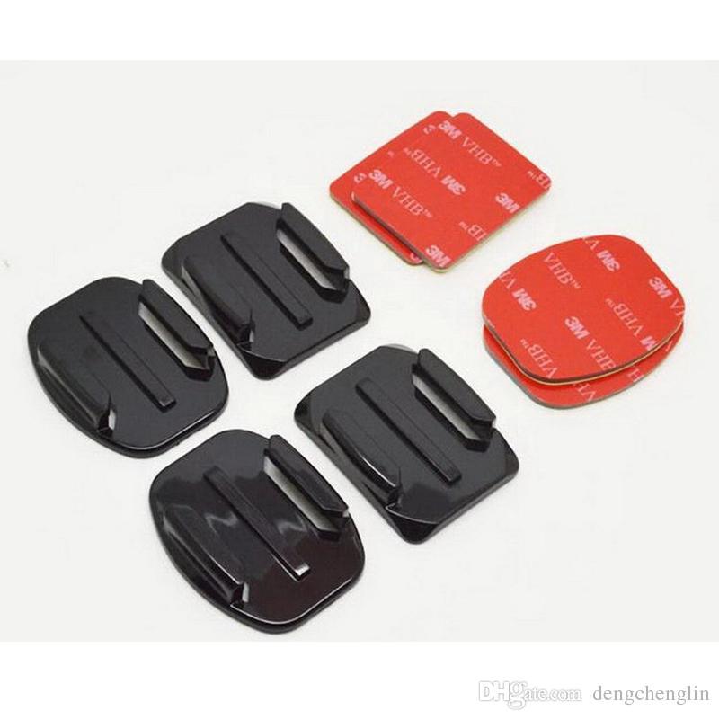 액션 카메라 액세서리 모든 스포츠 카메라에 대한 3M 플라스틱 헬멧 고정 기지와 아크 / 비행기 기지