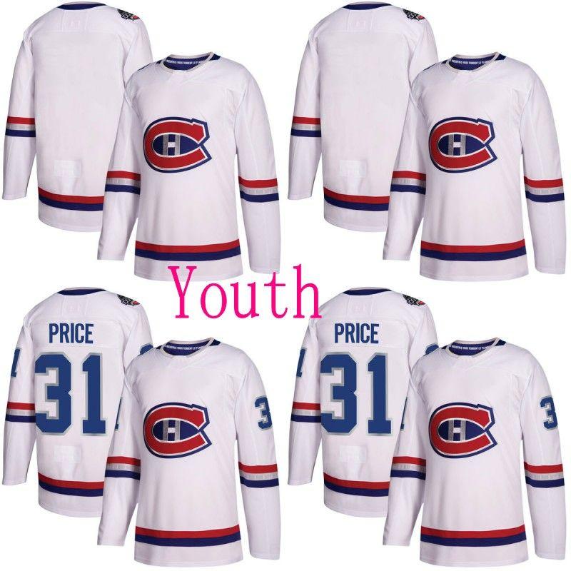 Youth 2018 Centennial Classic Montreal Canadiens Jersey 6 Shea Weber 31 Carey Price 76 P.K. Subban 92 جوناثان دروين مخصص هوكي الفانيلة