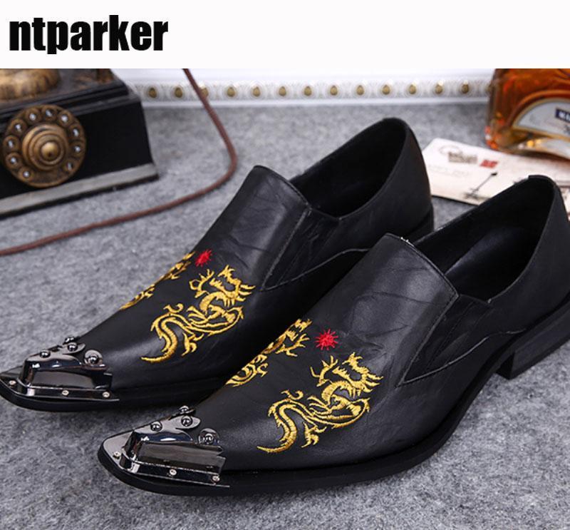 Chaussures de marque en cuir pour hommes avec chaussures à bout pointu pour hommes