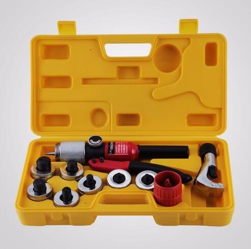 Hydraulischer Rohr-Expander-Schmiedestück 7 Hebel-Expander-Werkzeug-Satz HVAC-Werkzeug mit Kasten-Rohr-erweiterndem Schmiede-Installationssatz