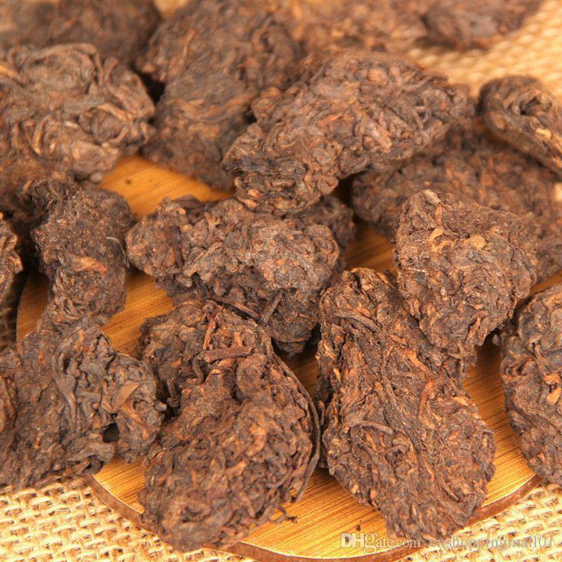 200g Yunnan Yaşlı Olgun Puer Çay Blok Organik Doğal Pu'er En Eski Ağacı Pişmiş Puer Siyah Puerh Çay Baş Tercihi Yeşil Gıda