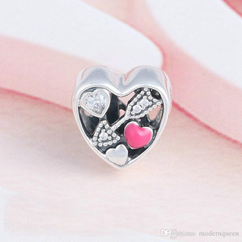 Angeschlagen von Love Charms Valentine Collection Schmuck Authentic S925 Sterling Silber Perlen passt für DIY-Armbänder 792039CZ