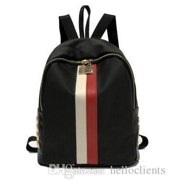 Neue Ankunft Designer Rucksack Frauen Hohe Qualität Marke Mode Strandtaschen Hit Farbe Streifen Reißverschluss Mini Taschen Rucksäcke Damen Umhängetasche