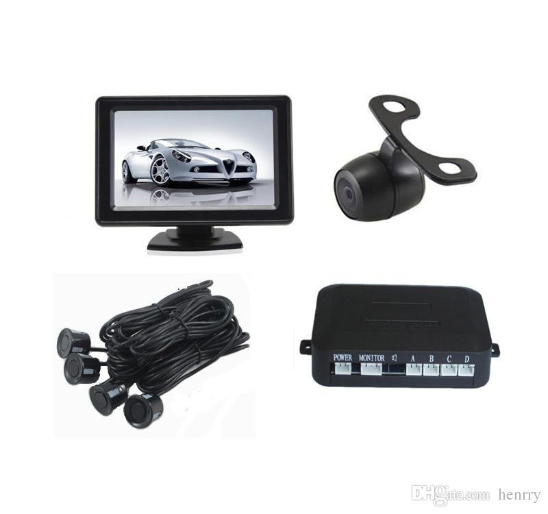 Telecamera retrovisiva per auto Sistema di assistenza parcheggio intelligente PZ602C 4.3 pollici 16: 9 Fotocamera digitale Pixel 648 * 488 ePacket gratuito