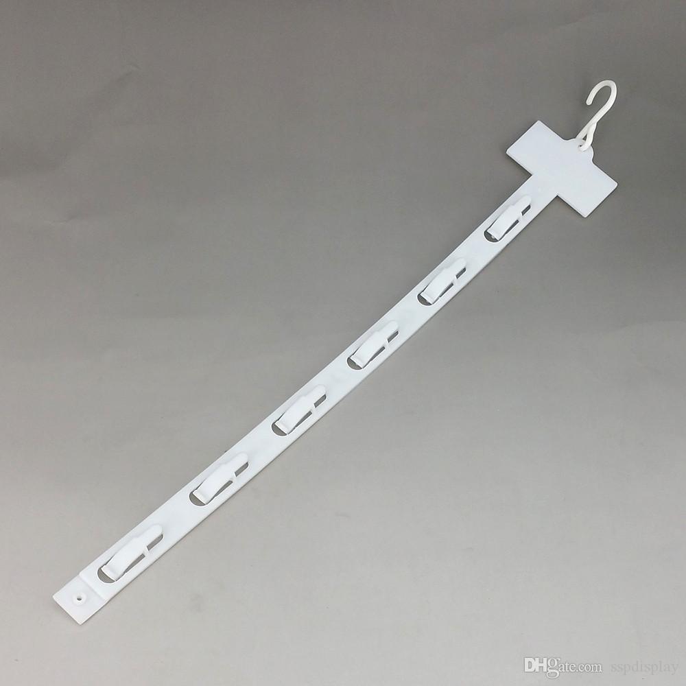 L42cm البلاستيك pp التجزئة المنتجات شنقا السلع عرض البضائع مقاطع شرائط 6 السنانير / pc سوبر ماركت ترويج 80 قطع