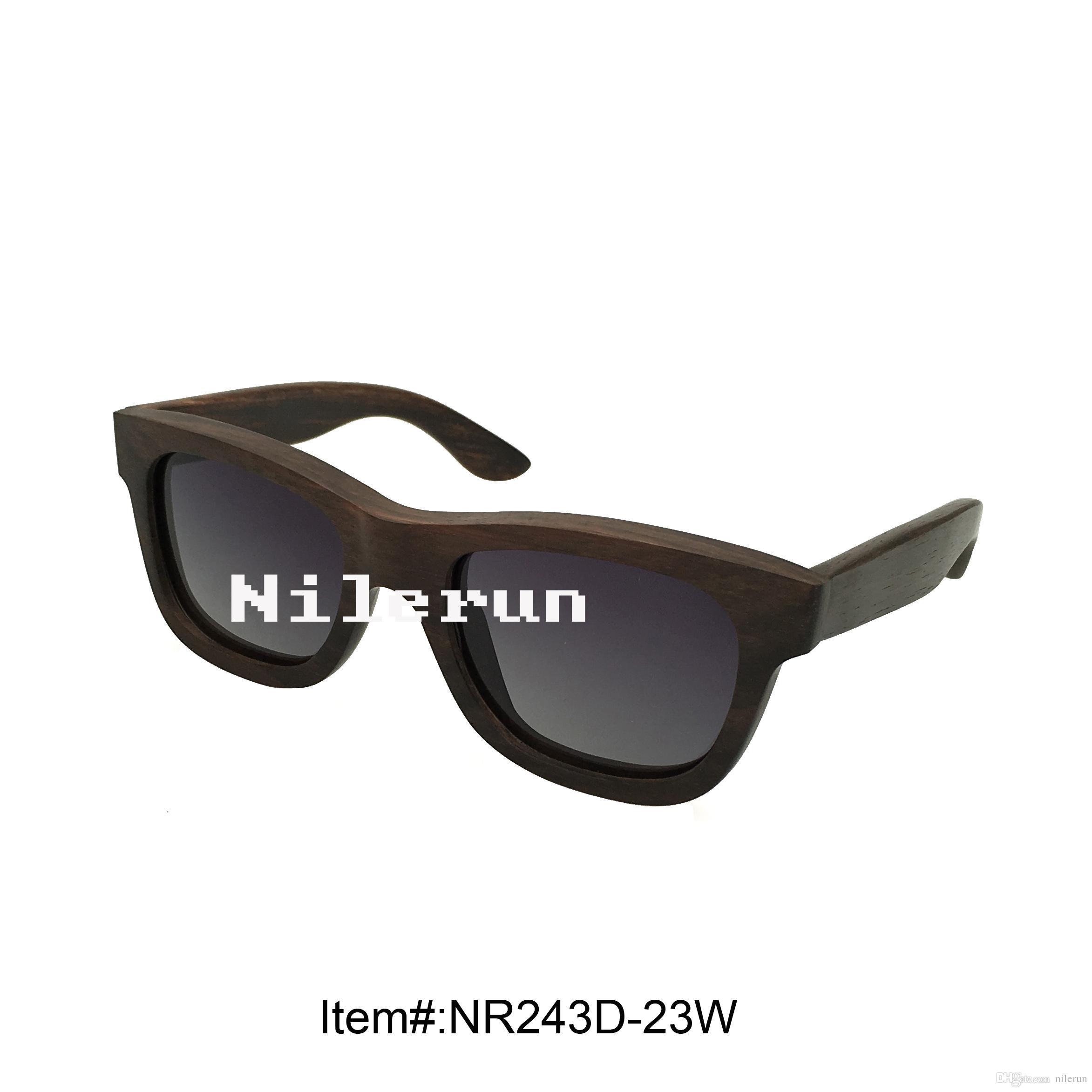 Unisex Männer Frauen Schwarze Holz Sonnenbrille