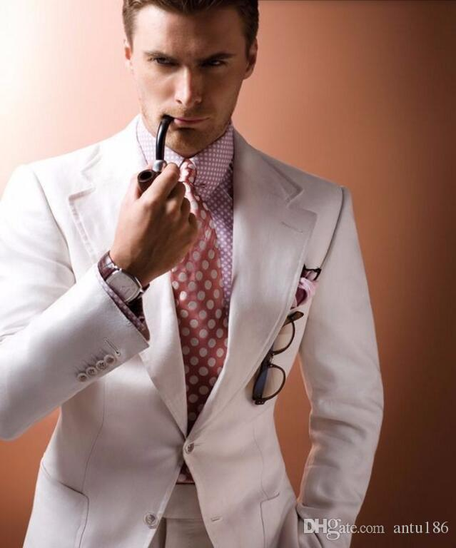 The latest men suits Ivory Beige Groom suits Tuxedos Gentleman ...