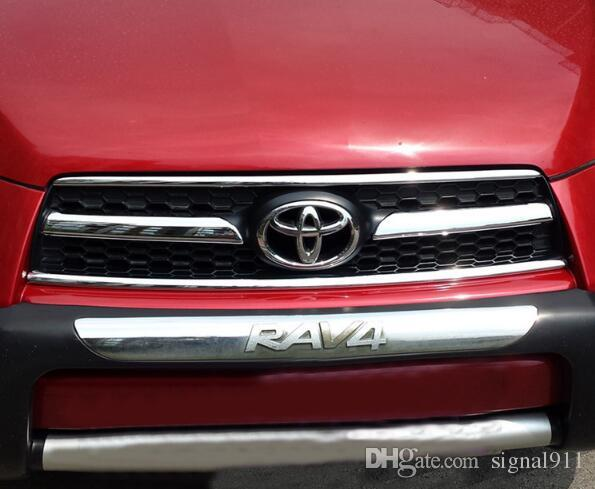 High quality ABS chrome 4pcs Front Grill trim,decorative strip for TOYOTA RAV4 2009-2012