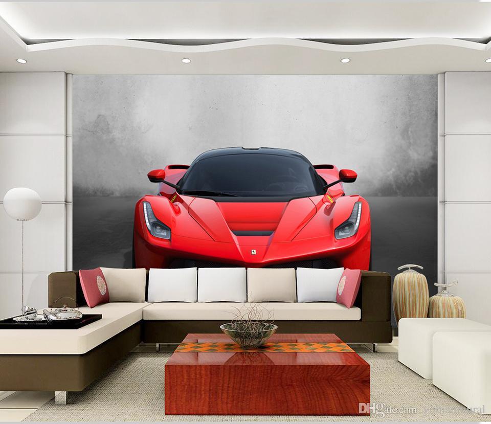 Custom Any Size 3D Sports Car Poster Photo Wallpaper Living Room Study Bedroom TV Background Wall Mural Wallpaper De Parede 3D