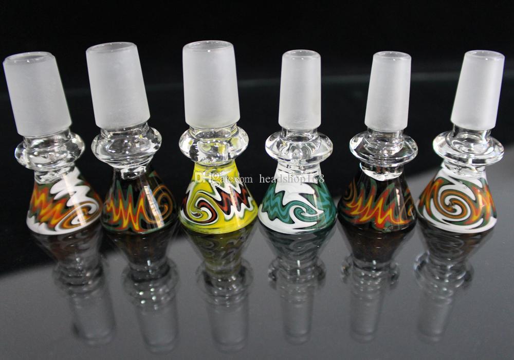 Bongs Rig projeto Joint 14 milímetros 18 milímetros Glass Bowl masculino colorido bacia de vidro por Dab vidro Straw água da tubulação de petróleo