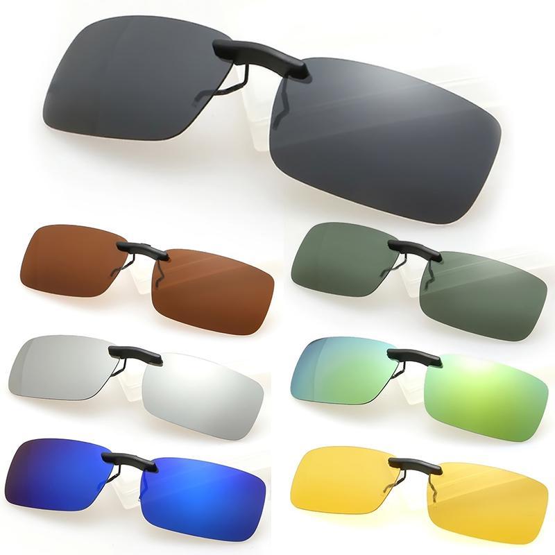 Atacado-Novo Homem Hot Mulheres polarizada Day Night Vision Clip-on Lens Driving Óculos Óculos de Sol W1