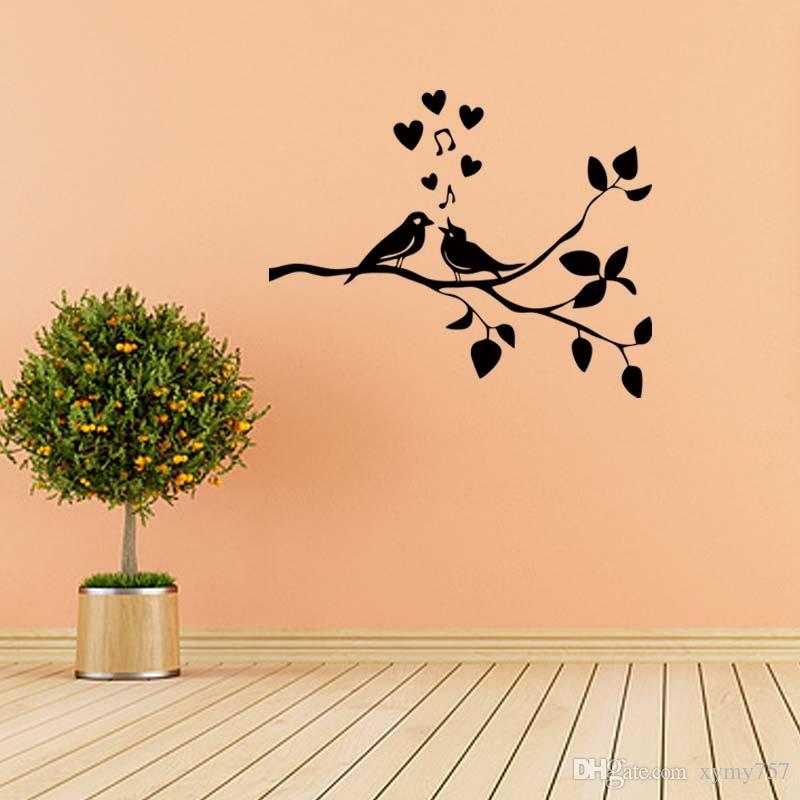 Salon Arbre /& Oiseau Mur Autocollants Art Décalcomanie Amovible Wall Art Home Decor la