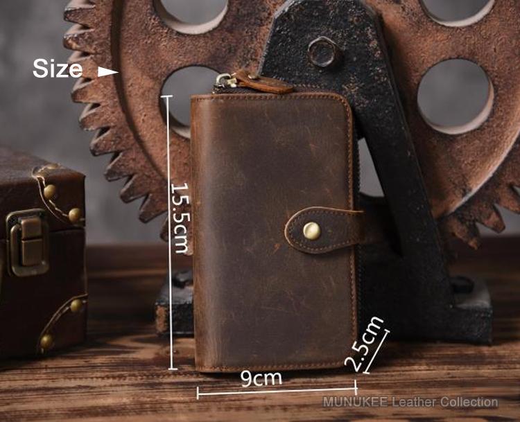 Vintage Crazy Horse натуральная кожа мужчины бумажник мужчины кошелек Длинные Стиль кожаный кошелек Мужской кошелек сцепления мешок монет сумка Деньги клипы
