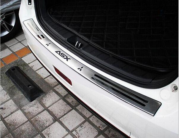 Accesorios aptos para la 2010 2011 2012 2013 2014 2015 Mitsubishi ASX parachoques trasero del protector del panel de arranque empinada cubierta de la placa del travesaño de la